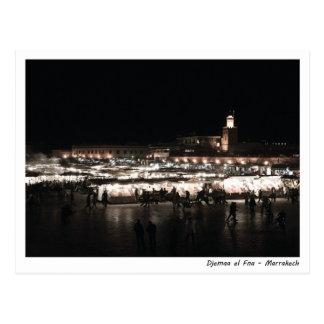 Djemaa el Fna at night Postcard