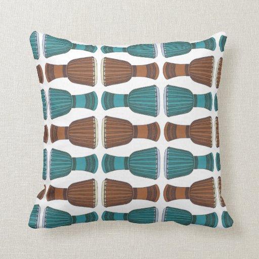 Djembe Drum Pattern Decorative Throw Pillow