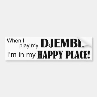 Djembe Happy Place Bumper Sticker