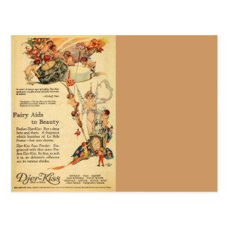Djer Fairy Aid French Perfume Postcard