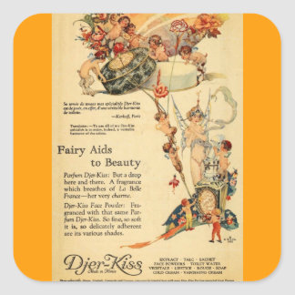 Djer Fairy Aid French Perfume Square Sticker
