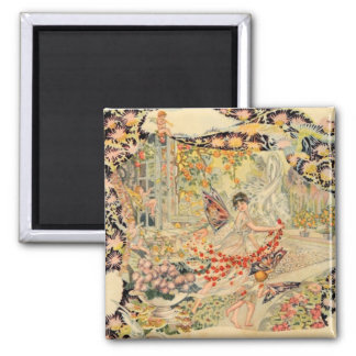 Djer Kiss French Perfume Label 2 Inch Square Magnet