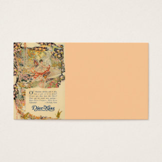 Djer Kiss French Perfume Label Business Card
