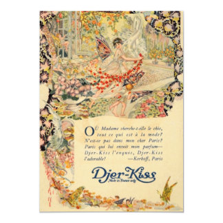 Djer Kiss French Perfume Label Card