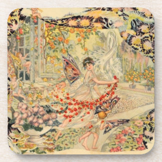 Djer Kiss French Perfume Label Drink Coasters