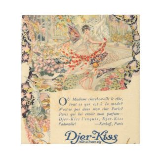 Djer Kiss French Perfume Label Notepad