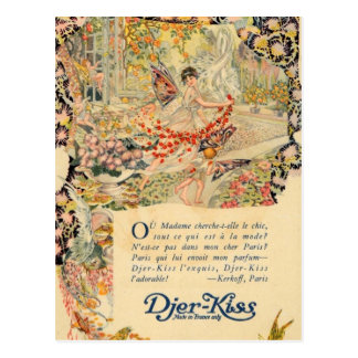 Djer Kiss French Perfume Label Post Cards