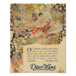 Djer Kiss French Perfume Label Poster