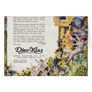Djer Kiss Parisian Fairy Advertisement 1920 Cards