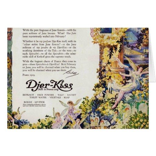 Djer Kiss Parisian Fairy Advertisement 1920 Card