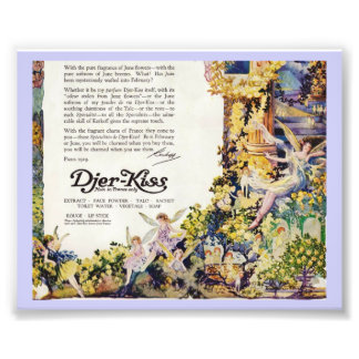 Djer Kiss Parisian Fairy Advertisement 1920 Photo Print