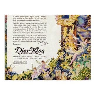 Djer Kiss Parisian Fairy Advertisement 1920 Postcard