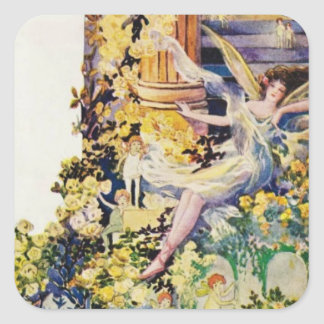 Djer Kiss Parisian Fairy Advertisement 1920 Square Sticker