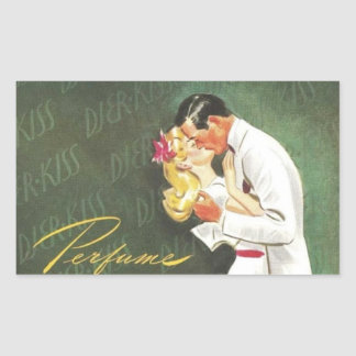 Djer Romantic Kisses Rectangular Sticker