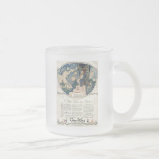 Djerkiss Romantic French Perfume Ad Frosted Glass Coffee Mug