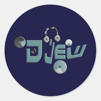 Djew Round Sticker