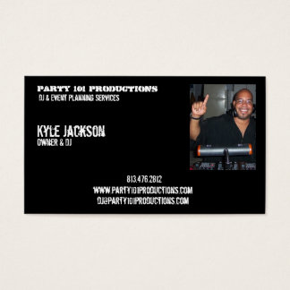 djiam, Party 101 Productions, Kyle Jackson, Own... Business Card
