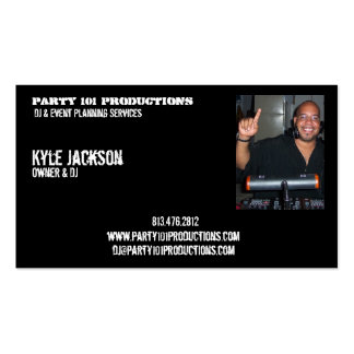 djiam, Party 101 Productions, Kyle Jackson, Own... Double-Sided Standard Business Cards (Pack Of 100)