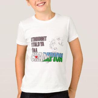 Djibouti and a Champion T-Shirt