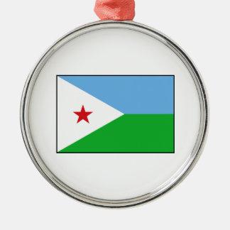Djibouti - bandera de Yibuti Ornamento De Navidad