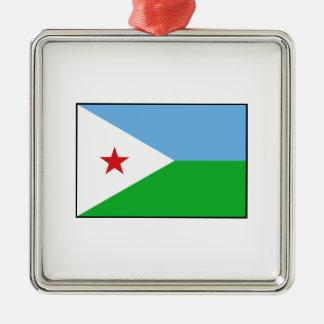 Djibouti - bandera de Yibuti Adornos De Navidad