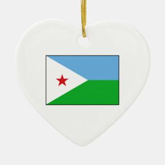 Djibouti - bandera de Yibuti Ornaments Para Arbol De Navidad