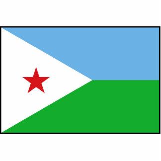 Djibouti - bandera de Yibuti Esculturas Fotograficas