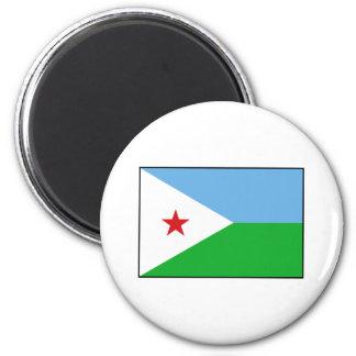 Djibouti - bandera de Yibuti Iman De Frigorífico