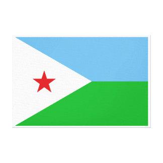 Djibouti - bandera de Yibuti Impresiones En Lona