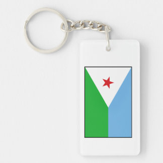 Djibouti - bandera de Yibuti Llavero