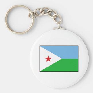 Djibouti - bandera de Yibuti Llaveros