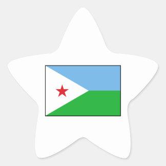 Djibouti - bandera de Yibuti Calcomania Forma De Estrella