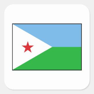 Djibouti - bandera de Yibuti Colcomania Cuadrada