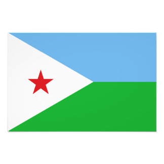 Djibouti - bandera de Yibuti Foto