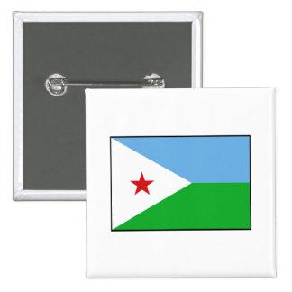Djibouti - bandera de Yibuti Pin