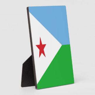 Djibouti - bandera de Yibuti Placa