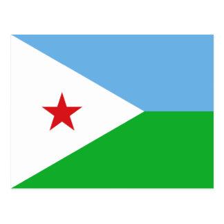 Djibouti - bandera de Yibuti Tarjeta Postal