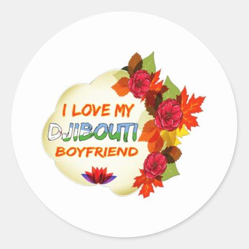 Djibouti Boyfriend Design Classic Round Sticker