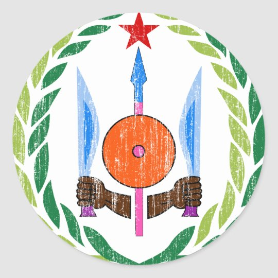 Djibouti Coat Of Arms Classic Round Sticker