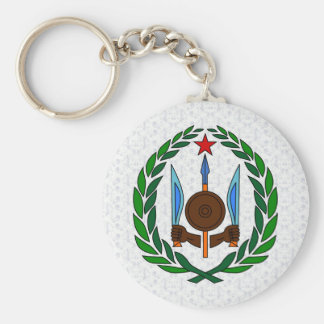 Djibouti Coat of Arms detail Basic Round Button Keychain