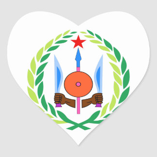 Djibouti Coat of Arms Heart Sticker