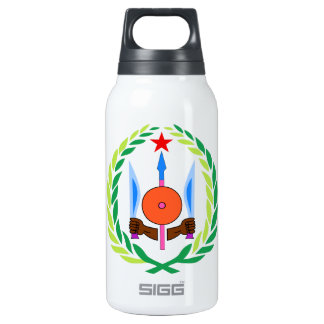 Djibouti Coat of Arms Insulated Water Bottle