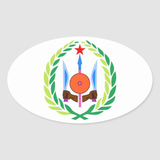 Djibouti Coat of Arms Oval Sticker