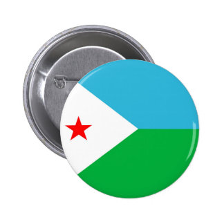 djibouti country flag nation symbol pinback button