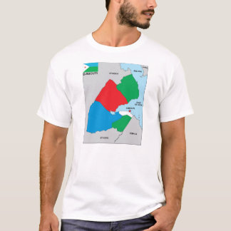 djibouti country political map flag T-Shirt