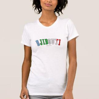 Djibouti en colores de la bandera nacional de camisetas