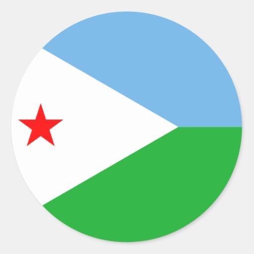 Djibouti Etiquetas Redondas