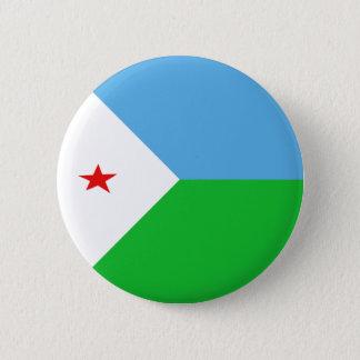 Djibouti Fisheye Flag Button