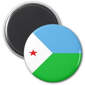Djibouti Fisheye Flag Magnet