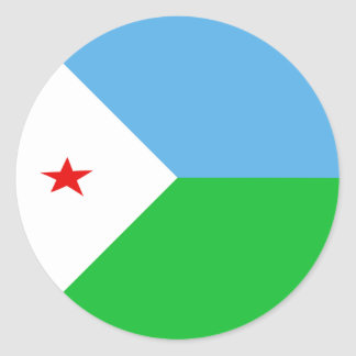 Djibouti Fisheye Flag Sticker
